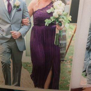 David's Bridal Plum Bridesmaids Dress